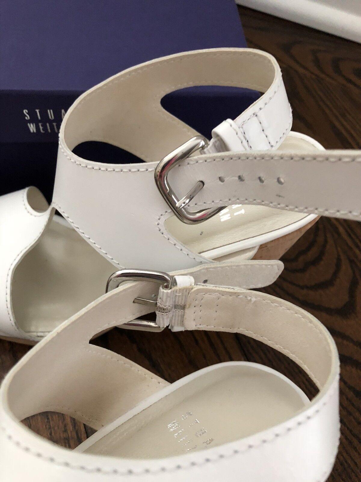 Stuart Weitzman Purity Wedge Weiß Farbe Farbe Farbe SZ 9 1e76aa