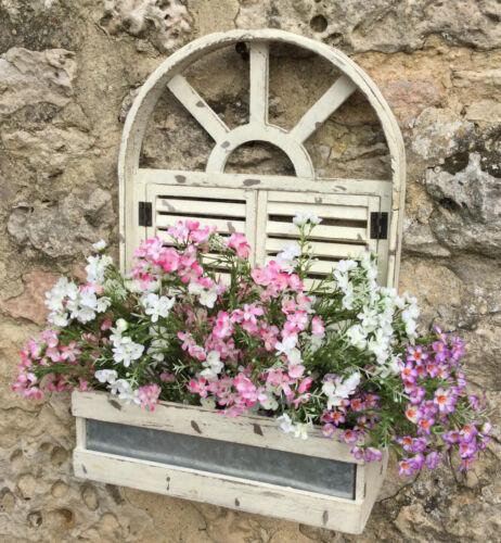 Stile Antico Chic Muro Vaso Contenitori Scatola di finestra shabby cottage vintage