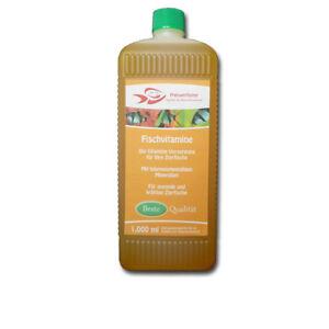 Fischvitamine-1Ltr-fuer-10000L-Wasser-Vitamine-Mineralstoffe-fuer-Fische-Aquarium