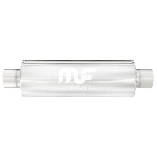 "Magnaflow 12866 Performance Muffler 2.5/"" Center//Center 5x5x14 Round Stainless"