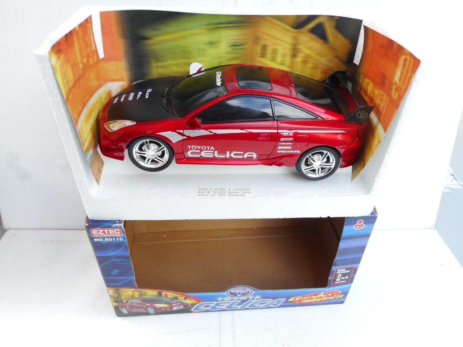 1 16 EZTEC  MUSIC   TUNER SOUNDS   RACING ACTION    TOYOTA  CELICA M BOXED