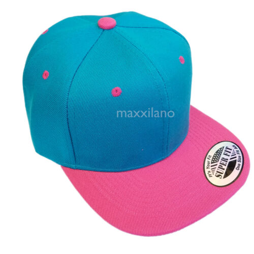 Mens Baseball Cap Trucker Snapback Hat Adjustable Flat Bill Classic Hip Hop New
