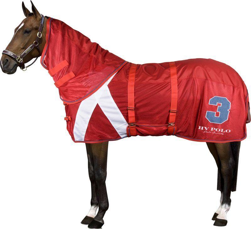 Mosche coperta coperta cavalli di Florence HV Polo Con Collo parte ColoreeeeeE ROSSO