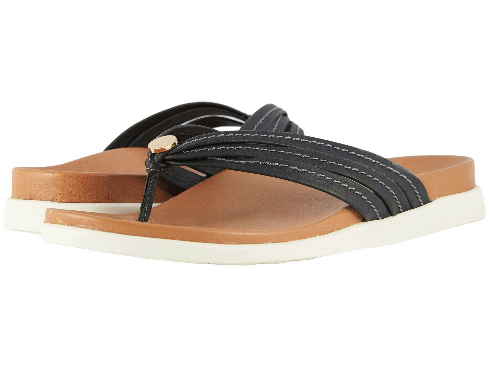 Women Vionic Catalina Flipflop Sandal Palm Catalina Black 100% Authentic New