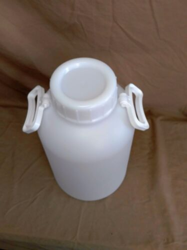 New Two Small 10 Liter 2.6 Gallon KM-340 Thick Plastic Bottle With Handles