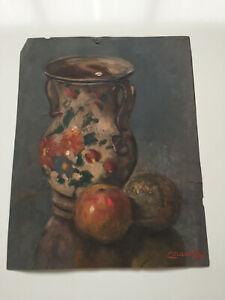 tableau-ancien-huile-sur-papier-EVRARD-JUL-XIXe-s-nature-morte