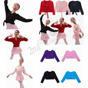 Girls-Kids-Ballerina-Ballet-Dance-Knit-Cardigan-Top-Wrap-Sweaters-Shrug-Shawl
