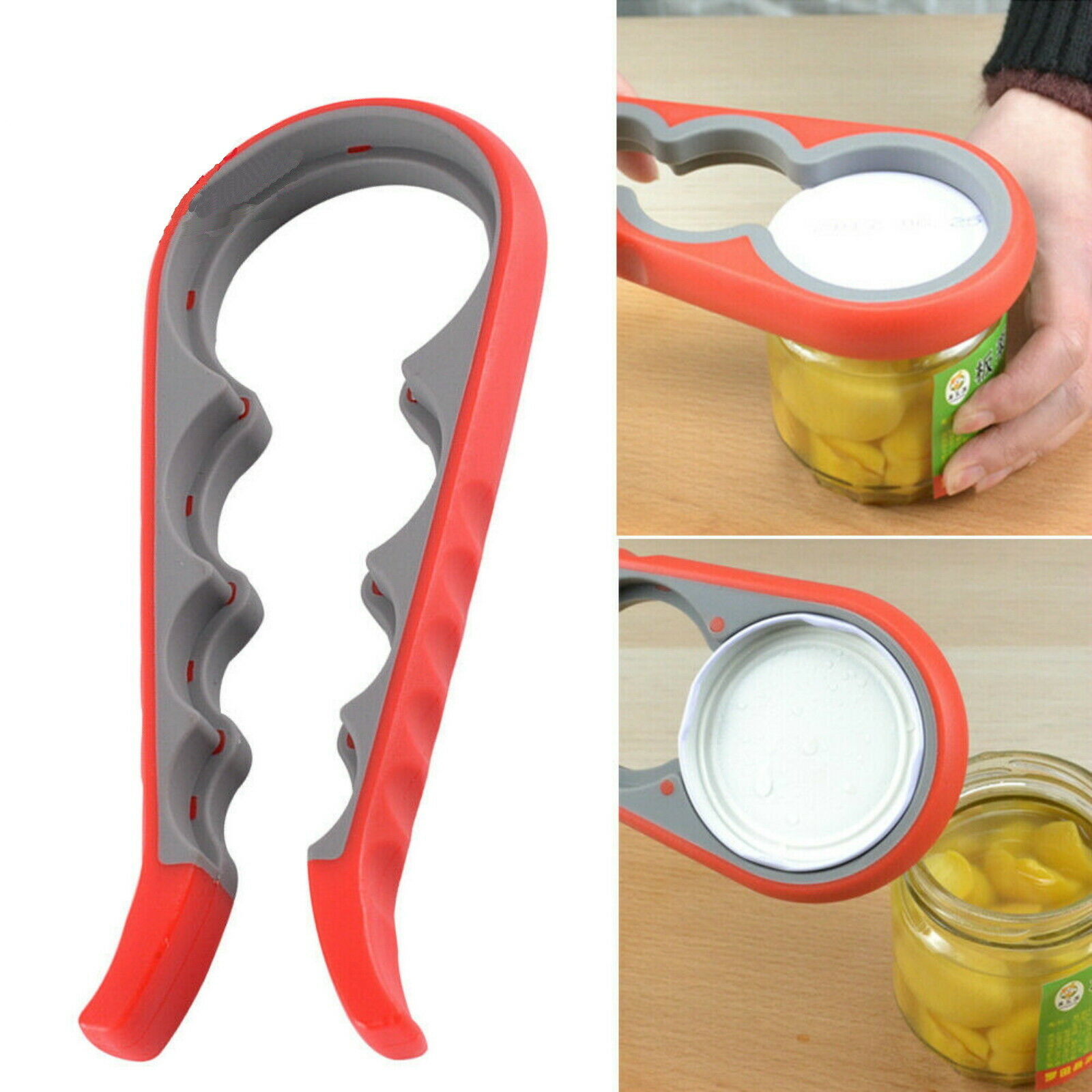 Multi Purpose Lid Jar Opener Handy Screw Cap Jar Opener Stainless Can Opener LD