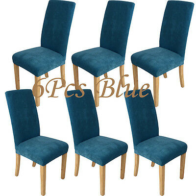 Super Fit Stretch Short Dining 5 Colors Chair Cover Protector Seat Slip Covers