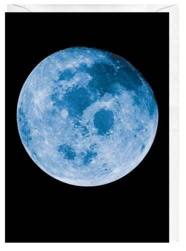 Blue Moon Taken From Apollo 11 Spacecraft Blank Greeting Card