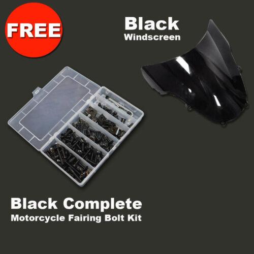 Full Glossy Black Fairing Panel Kit fairings set for Honda CBR 1000RR 2006 2007
