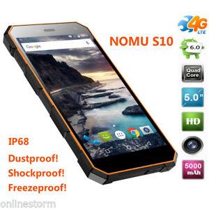IP68-Etanche-2-16Go-13MP-Android-2-SIM-OTG-HiFi-QuadCore-5-034-NOMU-S10-4G-Telephone