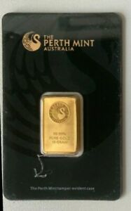 10g-Goldbarren-The-PERTH-MINT-ungeoeffneter-Blister-10-Gramm-999-99er-Gold