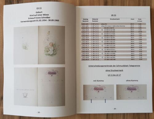 1-KATALOG-SCHMUCKTELEGRAMM SCHMUCKBLATT TELEGRAMME DER BUNDESPOST MIT SAARGEBIET