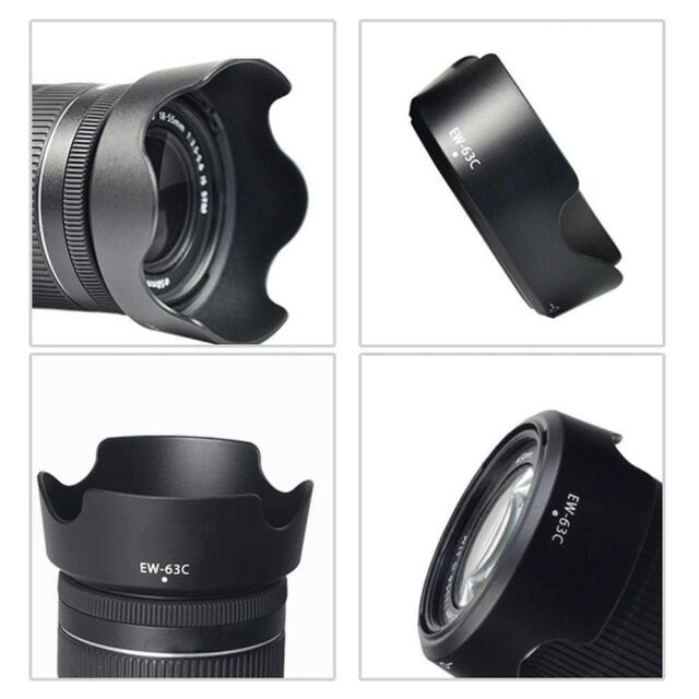 EW-63C EW63C Camera Lens Hood Shade For Canon EF-S 18-55mm f/3.5-5.6 IS STM C2B4