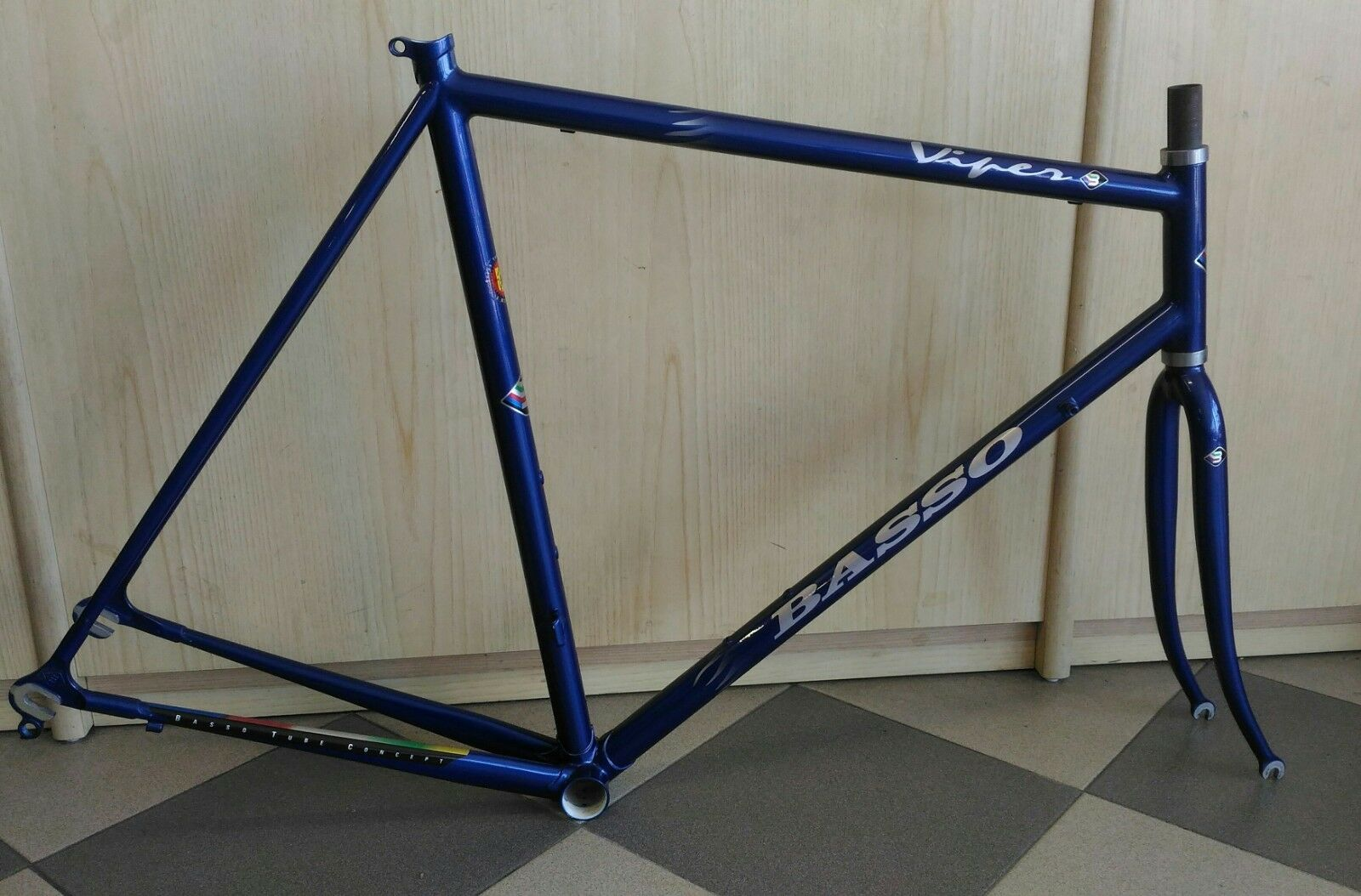 cd9e910c20 Vintage Basso Viper telaio acciaio steel frameset 1995 NOS NOS NOS made in  italy 99f7dc