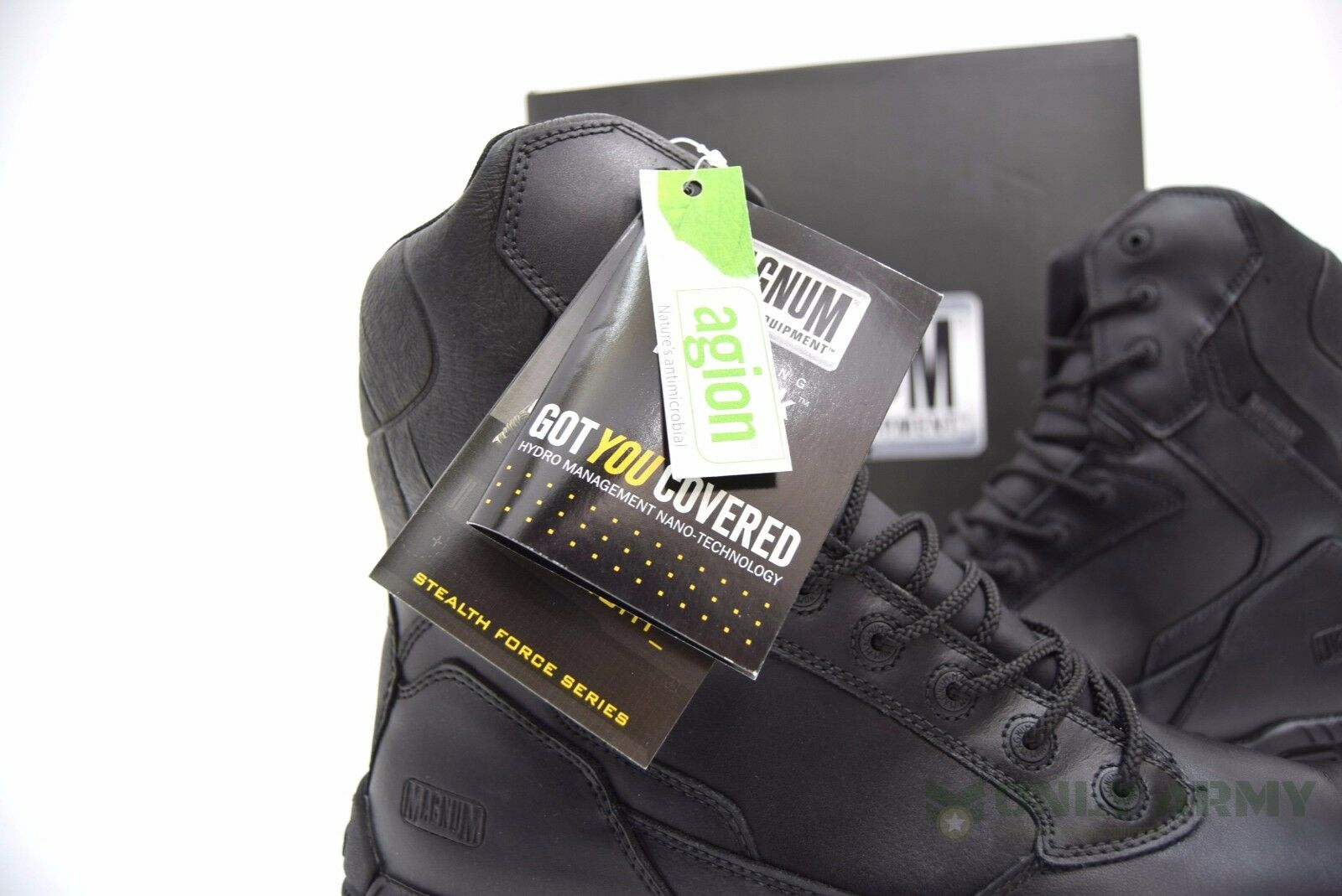 Magnum Stealth Force Leather 8.0 WPI Boots Waterproof Leather Force Boots Safety Army Police ca1cc4