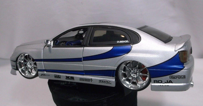 Auto de importación de juguetes jeda 1  24, Lexus GS - 430, rueda plateada de cromo