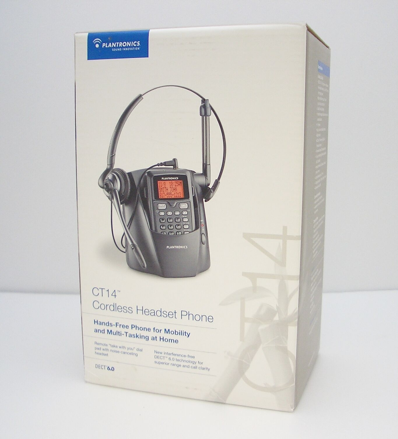 Details about Plantronics CT14 Cordless 1.9GHz Headset Telephone with Convertible 2 in 1 Style