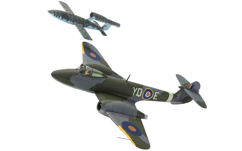 Corgi Aviation AA27403-Meteor F1-Dixie Dean 616 Sqn RAF & V-1 Doodlebug