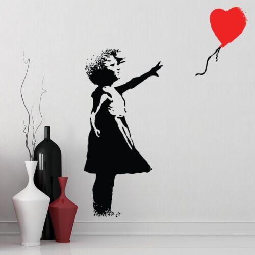 Rotes Ballon-Mädchen Banksy Wandtattoo WS-51324