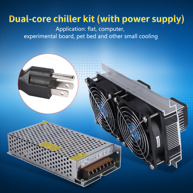 Refrigeration Cooling System Peltier Kit with Power Dual-Core Thermoelectric Cooler Peltier