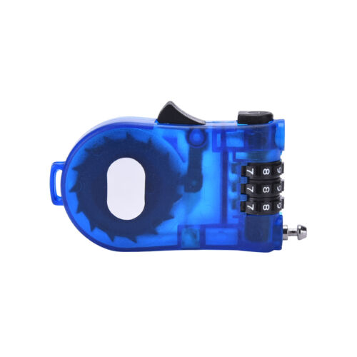 3 Feet Retractable BMX Bike Bicycle Cycle Cable Combination Lock Luggage Blue YJ