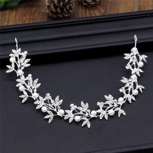 Argent-Bendable-Perle-Crystal-Bridal-cheveux-vigne-mariage-Bandeau-AccessoiresIH