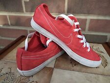 NIKE LOW PRM VINTAGE - Red Textile Trainers Shoes size UK 6 EU 40 *Hardly worn