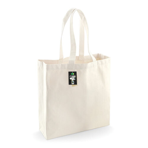 Westford Mill WM623 Fairtrade Cotton Classic Shopper 100/% Cotton Reusable Bags