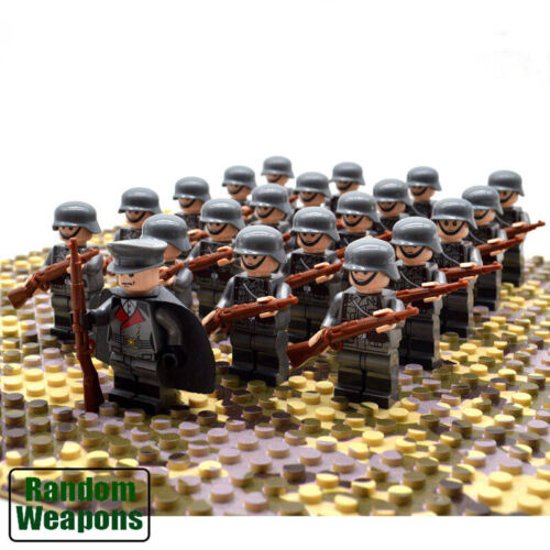 Set 21PCs WW2  German Troops Army Military Building Blocks Infantry Gift