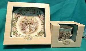 Royal-Doulton-BRAMBLY-HEDGE-Summer-8-034-Plate-amp-Tea-Cup-NEW-in-Boxes-OLD-NEW-STOCK