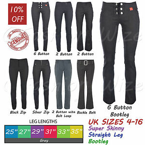 3e386114c37 Image is loading Grey-Ladies-Trousers-Women-Stretch-Hipster-Plain-Office-