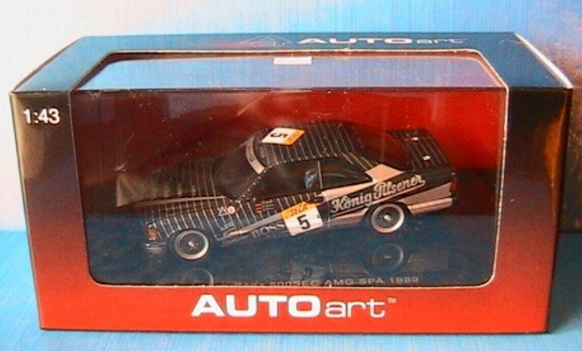 MERCEDES BENZ 500 SEC  5 W126 AMG SPA 1989 KONIG PILSENER AUTOART 68931 1 43