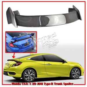 Carbon-Painted-For-Honda-Civic-10th-Coupe-JDM-Type-R-Trunk-Boot-Spoiler-16-19