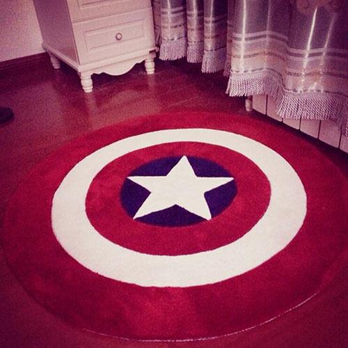 Avengers Captain America Star Round Floor Rug Bath Bedroom Mat Living Door Mats