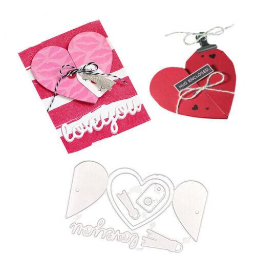 Valentine/'s Day Cutting Dies Love Heart Shape Dies Stencils Scrapbooking Templat