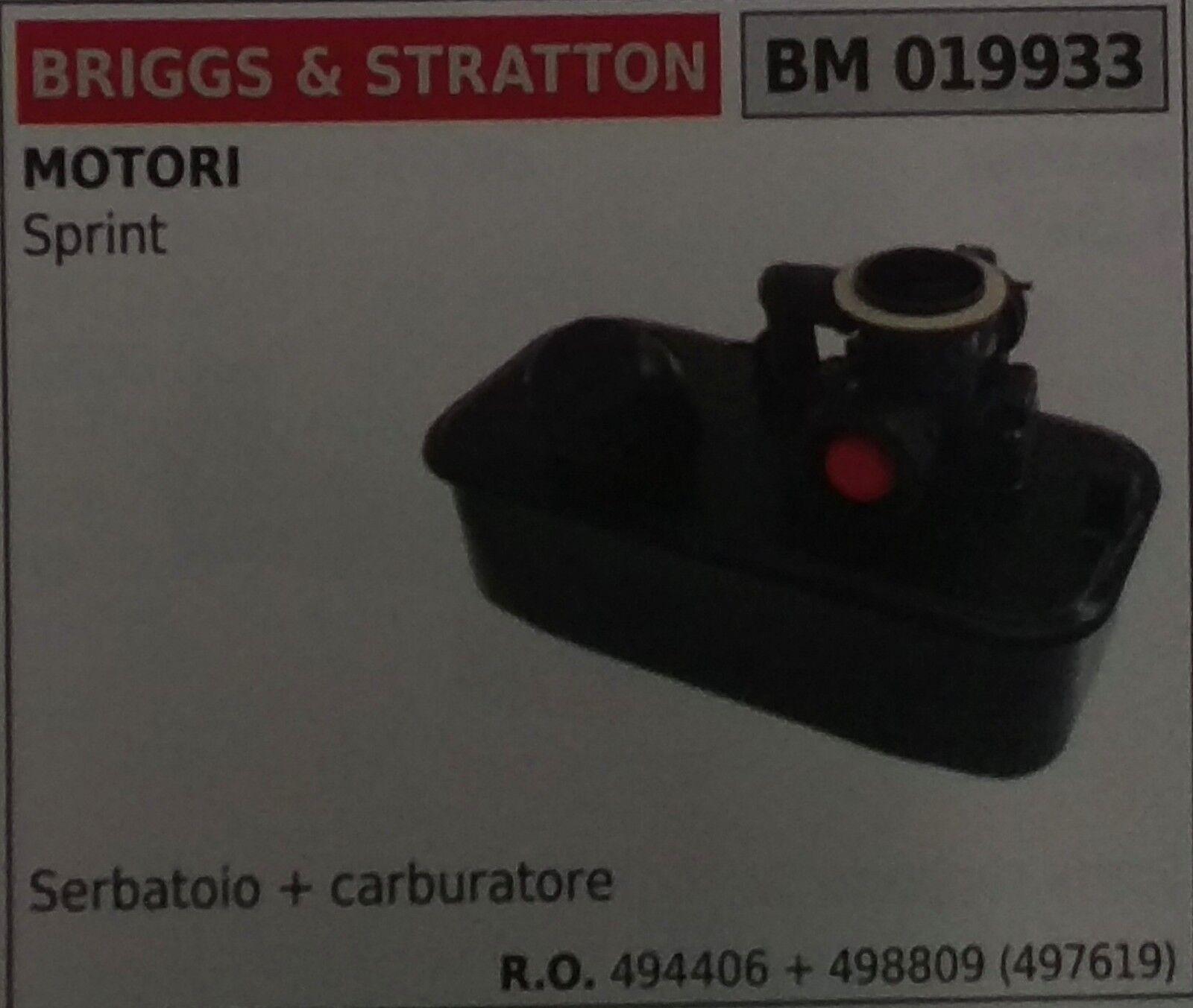 494406 + 498890 SERBATOIO + CARBURATORE MOTORE BRIGGS & STRATTON SPRINT