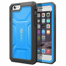 Heavy Duty Dual Layer Complete Protection Case for Apple iPhone 6 Plus 5.5 Blue