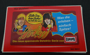 Promotional Stickers Tom And Locke Europa Detective Hörspielserie Cassettes 80er