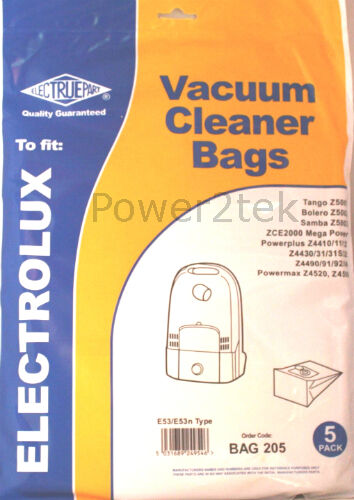 5 x E53 Vacuum Bags for Electrolux Z4431 Z4431S Z4432 Hoover NEW