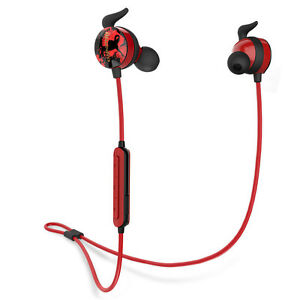 Bluedio AI  Bluetooth 4.2 Wireless Stereo Earphones Sports Headset ,In-Ear Red