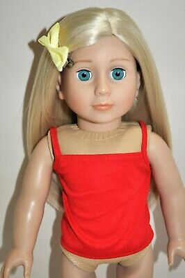 Doll Clothes I8 Inch American Girl Dolls Our Generation Red Singlet Top