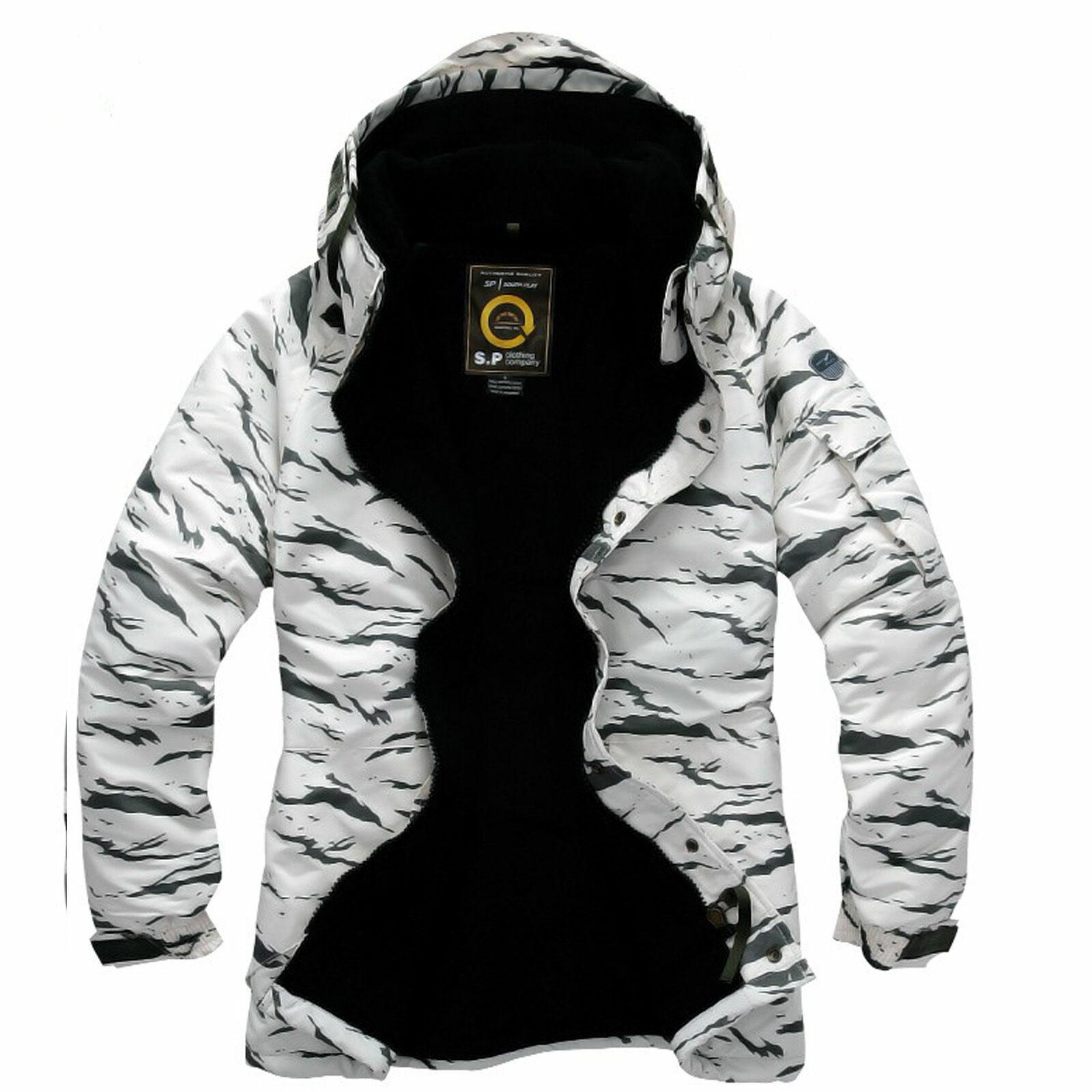 K style  Weiße Camouflag Winter wasserdicht Ski-Snowboard Jacke S