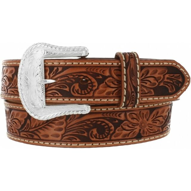 42 36 46 NWT C40064 40 38 Tony Lama Floral Tooled Leather Belt  Sizes 34