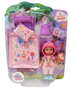 Zapf-Creation-920305-Puppe-Emely-Mini-Chou-Chou-mit-Bett-Set-Spielset-Kinder-Neu