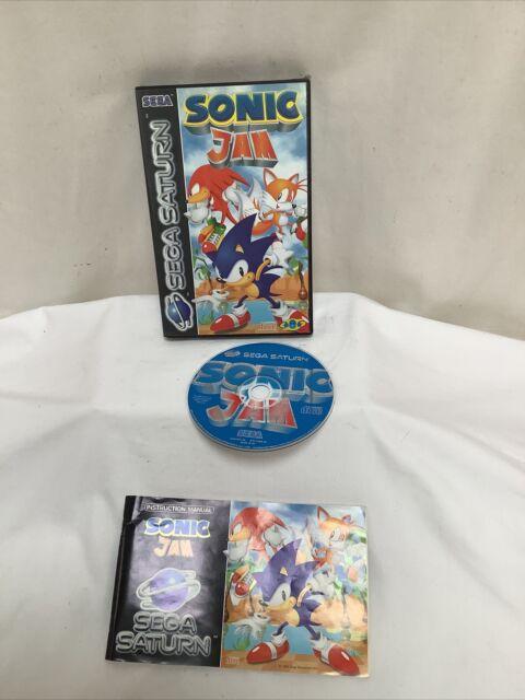 Sega Saturn Sonic Jam Game with manual Pal Good Con