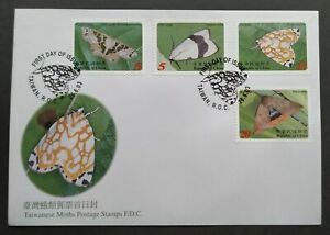 2003-Taiwan-Insects-Moths-Stamps-FDC