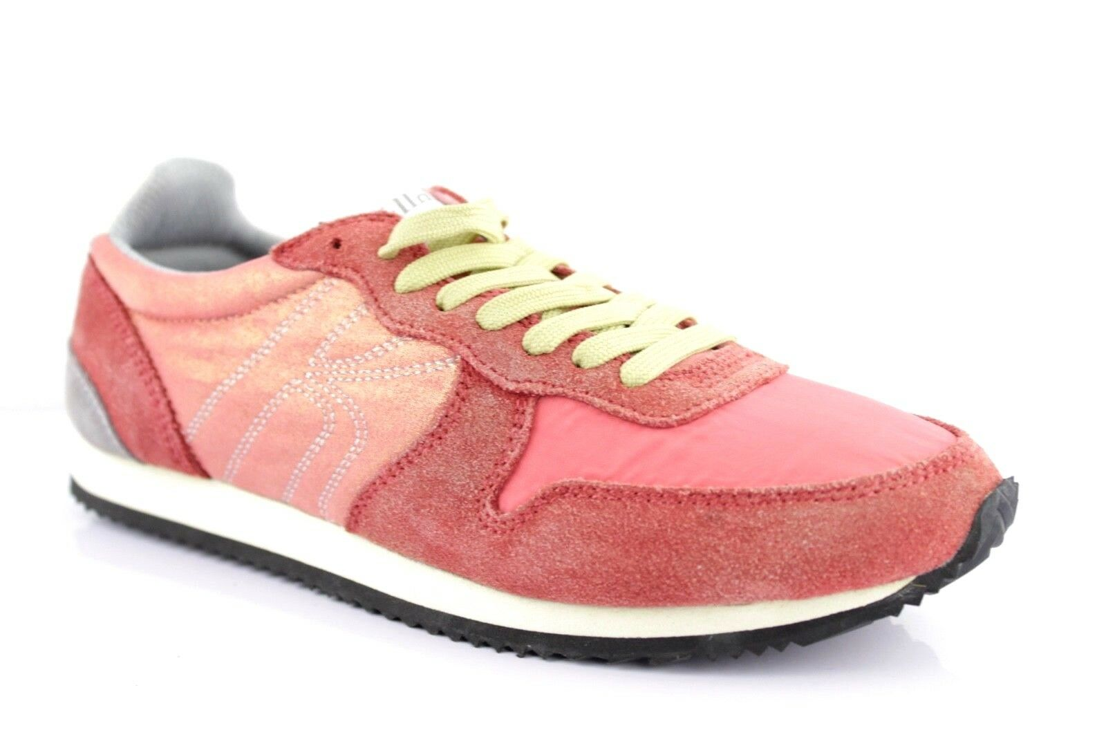 Miss Sixty Women's Sneakers Low shoes Lace up Trainers Coral Leather
