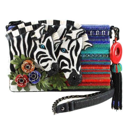 Beaded Theme Fashion Novitude Mary Zebra Handtas Frances Stripes FKc31lTJ